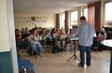 """Unsere """"Orpheusianer"""" spielen auch in neuer Sitzordnung gekonnt und flott wie früher für die Gäste auf. Foto: Josef Nickolai"""