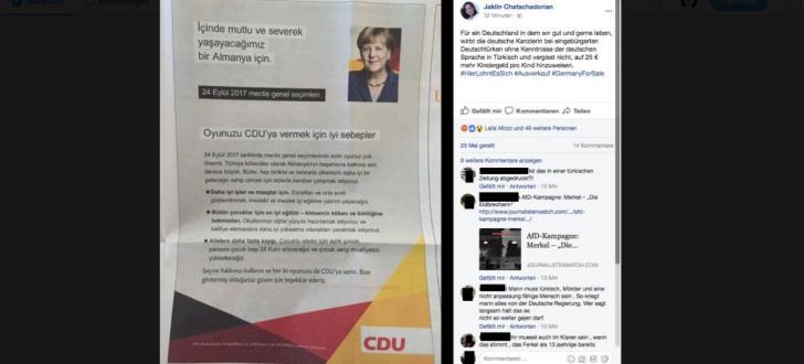 Merkel wirbt mit türkischen Flugblättern für mehr Kindergeld