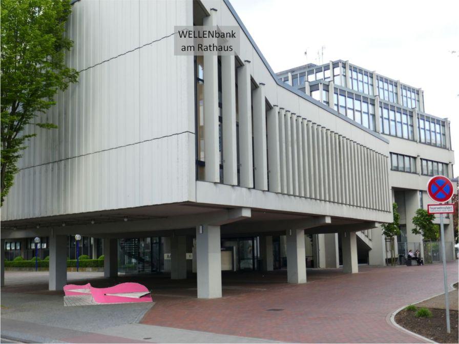 Fotomontage der WELLENbank am Rathaus