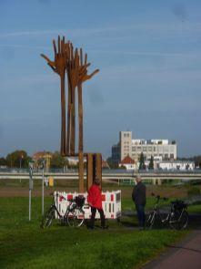 erste begutachtung des Skulpturenteams