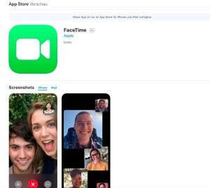 Screenshot FaceTime
