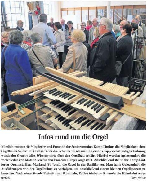 Infos rund um die Orgel