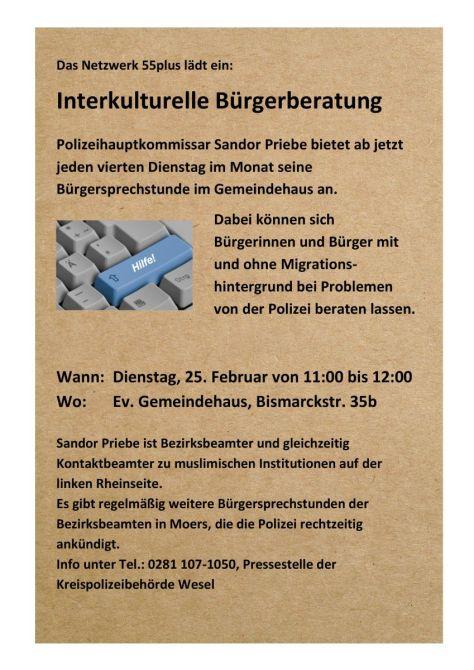 Plakat - Interkulturelle Bürgerberatung -