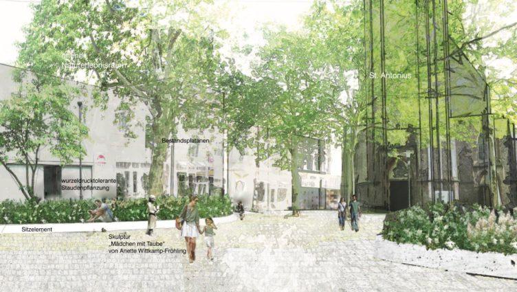 Entwurfsplanungen für den Antoniuskirchplatz
