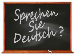 """Tafel: """"Sprechen Sie deutsch?"""""""