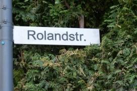 Straßenschild Rolandstrasse
