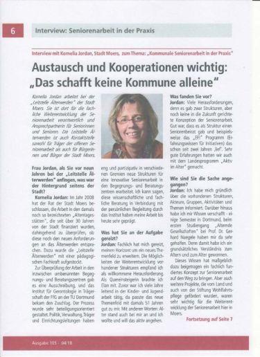 """Interview Konny Jordan in """"Nun reden Wir"""" Ausgabe 105, Seite 6, Bild- und Textquelle: LSV-NRW"""