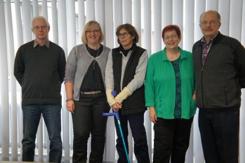 Unser Team 2015 Hartmut, Andrea, Inge, Christa, Hans-Jürgen