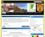 Screenshot der Website Quartier-Waldacker