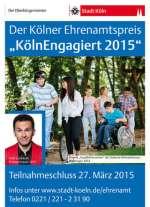 Plakat zur Bewerbung des Kölner Ehrenamtspreis 2015