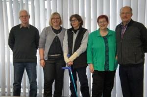 Das Online-Team des Bergheimer Senioren-Portals: (v.r.): Hartmut Fritz, Andrea Floß, Inge Hoek, Christa Commer und Koordinator Hans-Jürgen Knabben