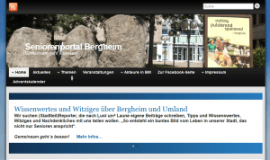 Screenshot des Seniorenportal Bergheim