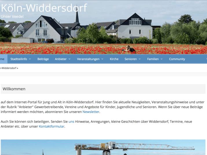 Quartiers-Webseite Köln Widdersdorf