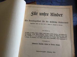 Sonntagsblatt für die christliche Kirchenwelt, 1934