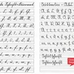 Links: Deutsche Schrift-Kurrent, rechts: Sütterlin-ABC. Gegenüberstellung der Schriftarten auf liniertem Papier. Foto: Klaber auf Pixabay.com