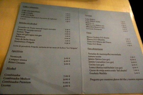 Precios Matilda Cafe
