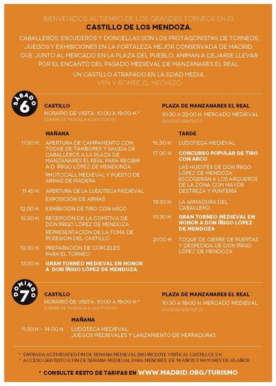 Programa Fin de semana medieval 2015
