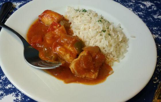 Mero en salsa creole Gumbo