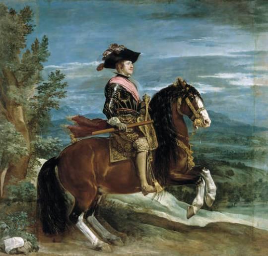 Felipe IV a caballo. Velazquez