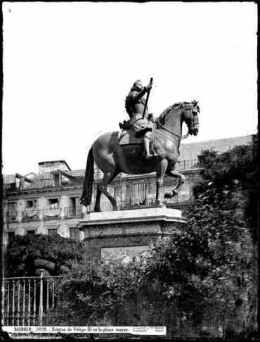 Felipe III en la Plaza Mayor de Madrid