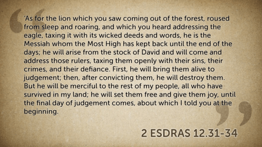 2 Esdras lion of the tribe of judah justice