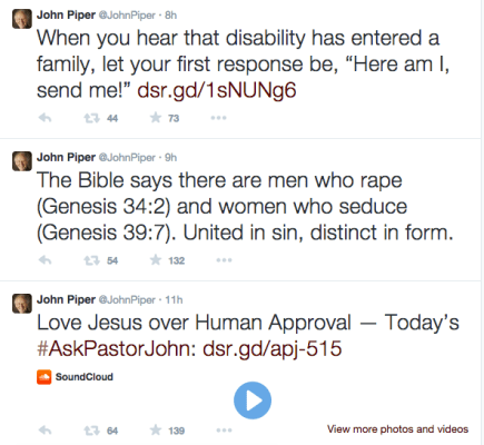 John Piper Rape Tweet