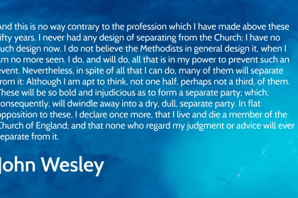 the methodists think little of John Wesley