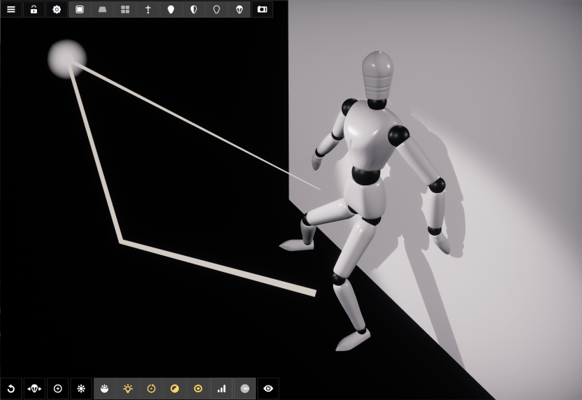 Active light mode in Manikin