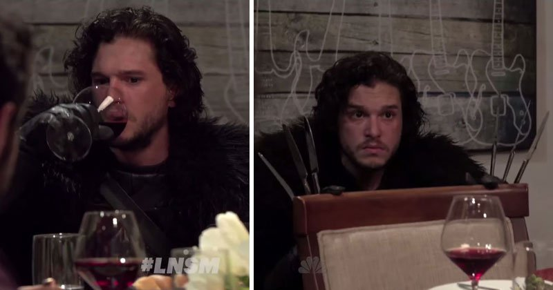 Seth Meyers Brings Jon Snow to a DinnerParty