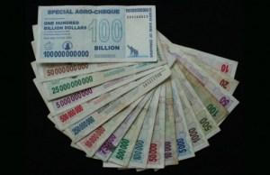 One US Dollar For Every 35 Quadrillion Zimbabwe Dollars