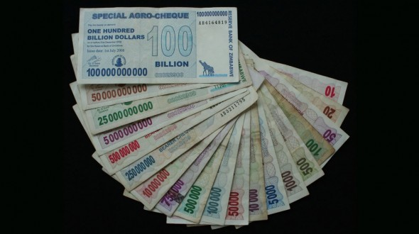 One US Dollar For Every 35 Quadrillion Zimbabwe Dollars