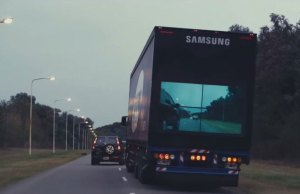 Samsung Outfit Trucks with Cameras and TVs So You Know When It's Safe To Overtake
