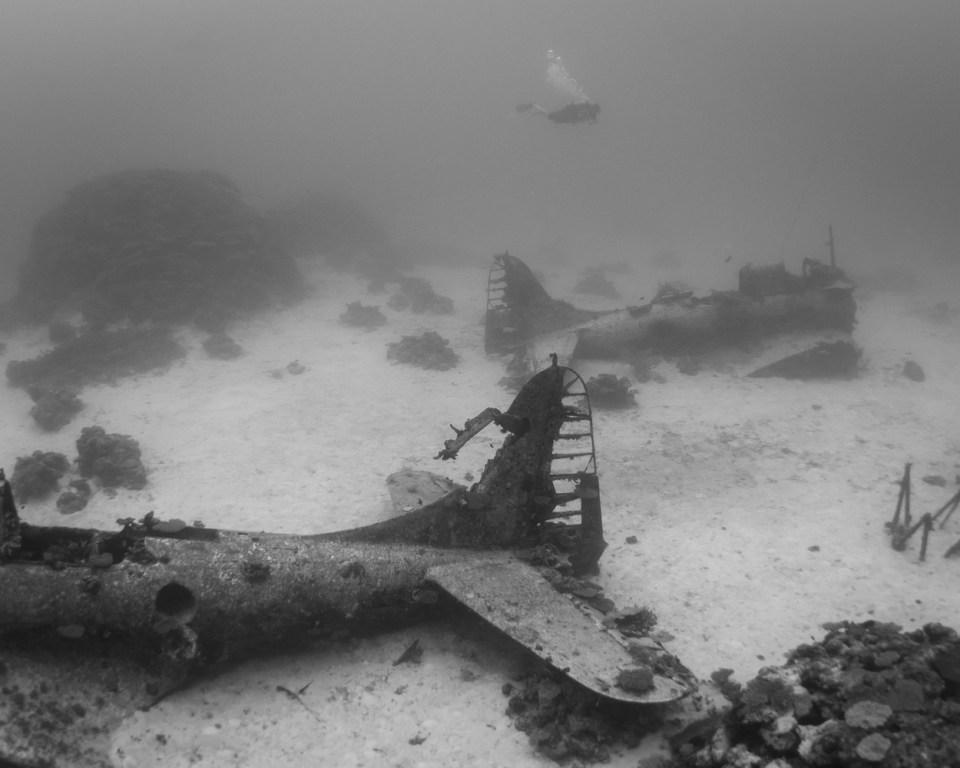 Underwater Graveyard of WWII Planes