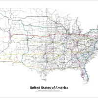 Every US Highway Drawn Like a Transit Map