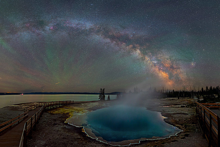 Milky Way from yellowstone