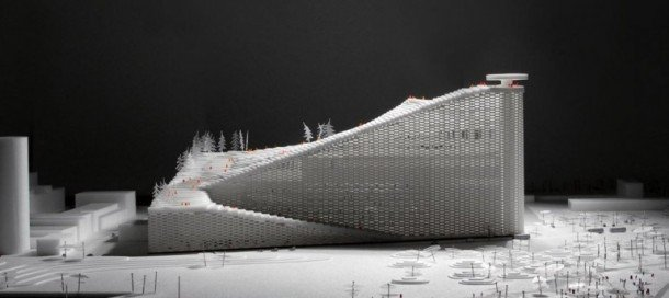 Ski Slope Featured On Top Of A Power Station in Denmark