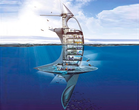 Floating Research City Designed as Manta Ray