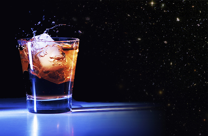"""Astronauts and alcohol don't mix, the American space agency ruled in 1972 (pdf). That, however, hasn't meant that there is no alcohol aboard the International Space Station (ISS).Everything from beer to wine has made its way to way to space, and the Russians have even enjoyed a sip or two of cognac. On the American side, however, the alcohol is strictly for experiments, not consumption.The results of the most recent space-alcohol experiment are in. Ardbeg's whisky was sent in to space in 2011 and returned on Earth in 2014. After a year of analysis, chemists and tasters have given their verdict (pdf): although its chemical make-up is not too different, its aroma and taste have """"unexpectedly"""" changed. Earth sample:  Aroma – Very woody, hints of cedar wood, sweet smoke and aged balsamic vinegar. Hints of raisins, treacle toffee, vanilla and burnt oranges. Very reminiscent of an aged Ardbeg style.  Taste – Dry palate, woody/balsamic flavors, sweet smoke and clove oil. A distant fruitiness (prunes/dates), some charcoal and antiseptic notes. The aftertaste is long, lingering and typically Ardbeg, with flavors of gentle smoke, briar wood, tar and some sweet, creamy fudge.  Space sample:  Aroma – Intense and rounded, with notes of antiseptic smoke, rubber, smoked fish and a curious, perfumed note , like cassis or violet. Powerful woody notes, hints of graphite and some vanilla. This then leads into very earthy/soil notes, a savory, beefy aroma, and then hints of rum & raisin flavored ice cream.  Taste – A very focused flavor profile, with smoked fruits (prunes, raisins, sugared plums and cherries), earthy peat smoke, peppermint, aniseed, cinnamon and smoked bacon or hickory-smoked ham. The aftertaste is pungent, intense and long, with hints of wood, antiseptic lozenges and rubbery smoke.  Specially designed vials of plastic with oak bits—one in space and one on Earth—could not replicate the 200-liter oak barrel maturation process that's normal for the whisky. But scientists"""