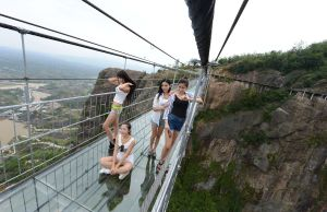 The World's Longest Glass Bridge In China