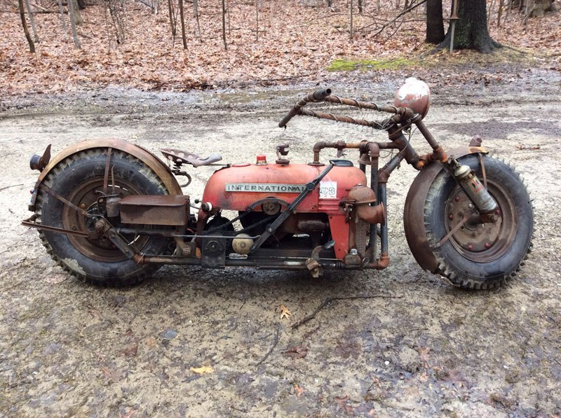 Old Tractor Transformed Into Motorcycle