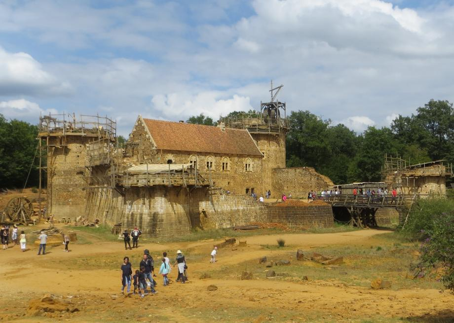 Archaeological Experiment 13 Century Castle Being Built In France