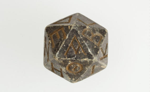 Ancient d20 die emerges