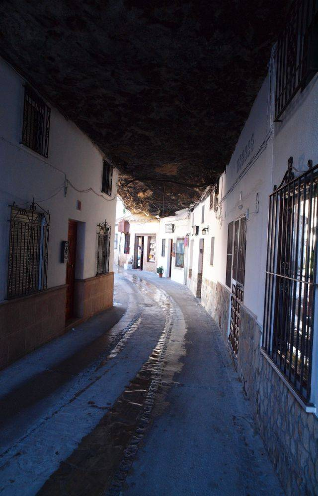 Town Built Under a Giant Rock in Spain