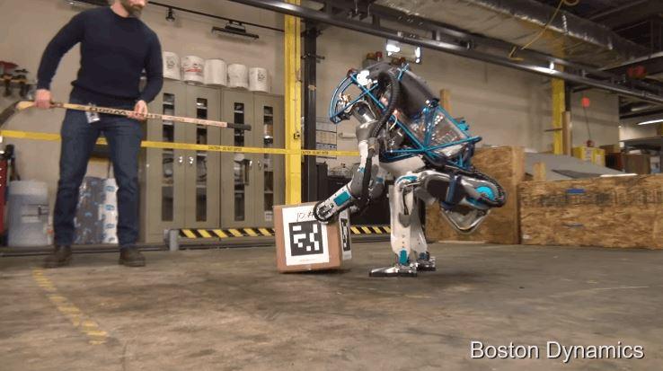 Boston Dynamics Most Advanced Upright Walking Atlas Robot