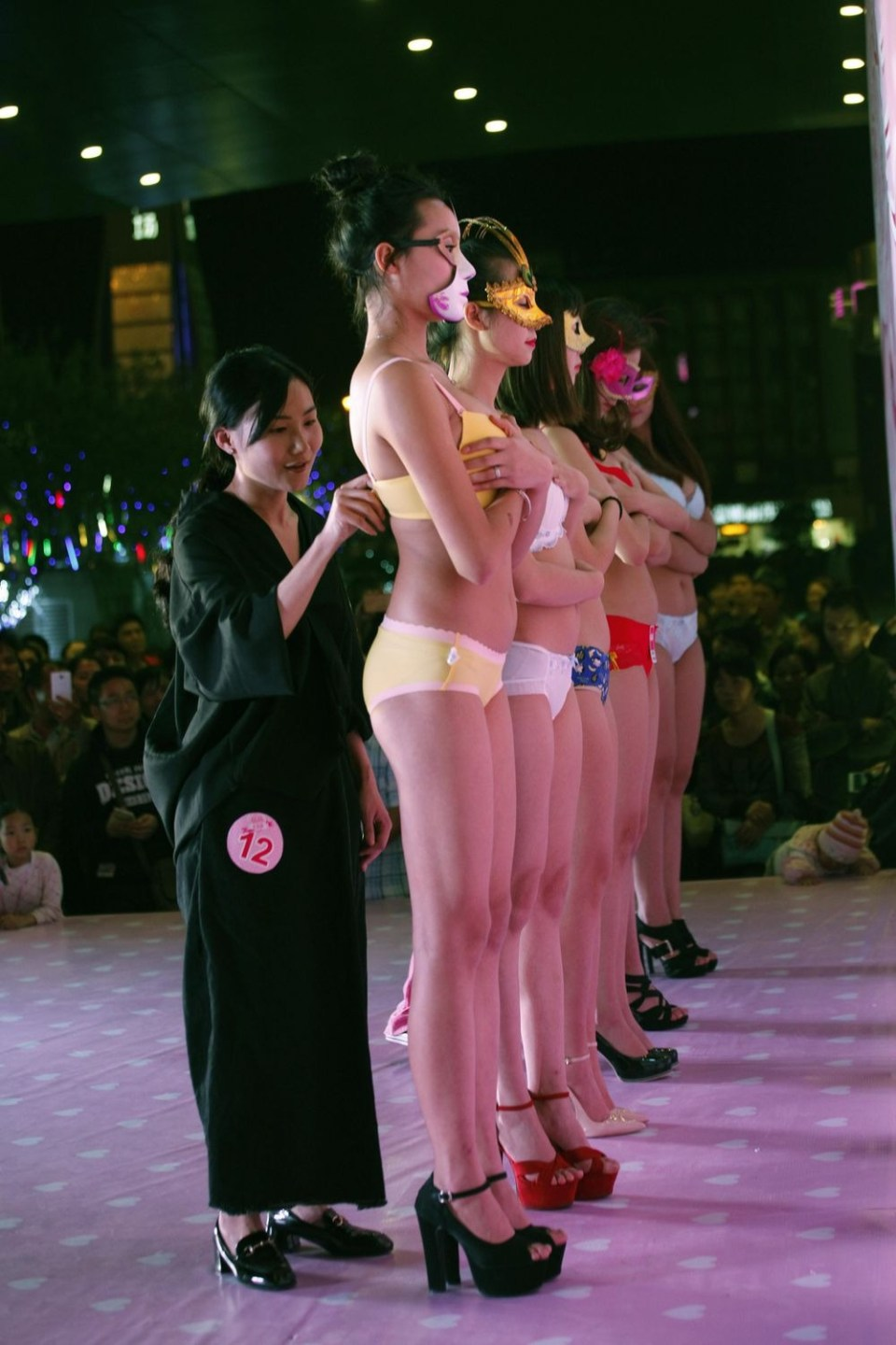 Bra Unbuckling Contest At Chinese Mall on Women's Day