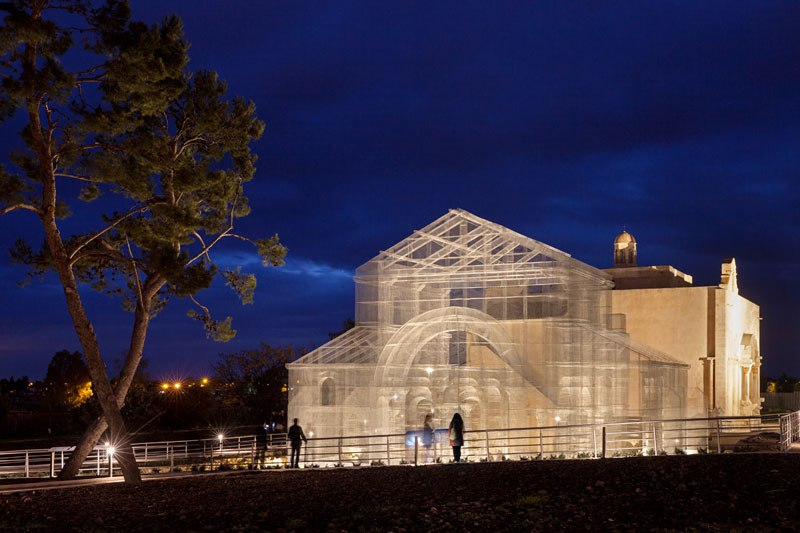 Ancient Building Site with Incredible Wire Mesh Resurrects
