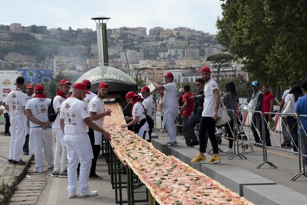 The Longest Pizza In The World