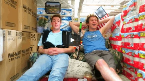 Two Guys Built A Giant Toilet Paper Fort Inside Walmart