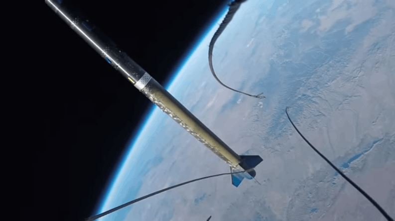First-Person View of a Rocket Launch to Space