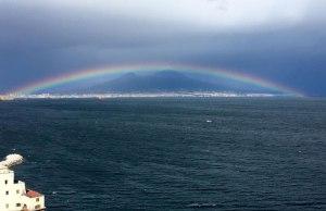Perfect Rainbow Over Mount Vesuvius